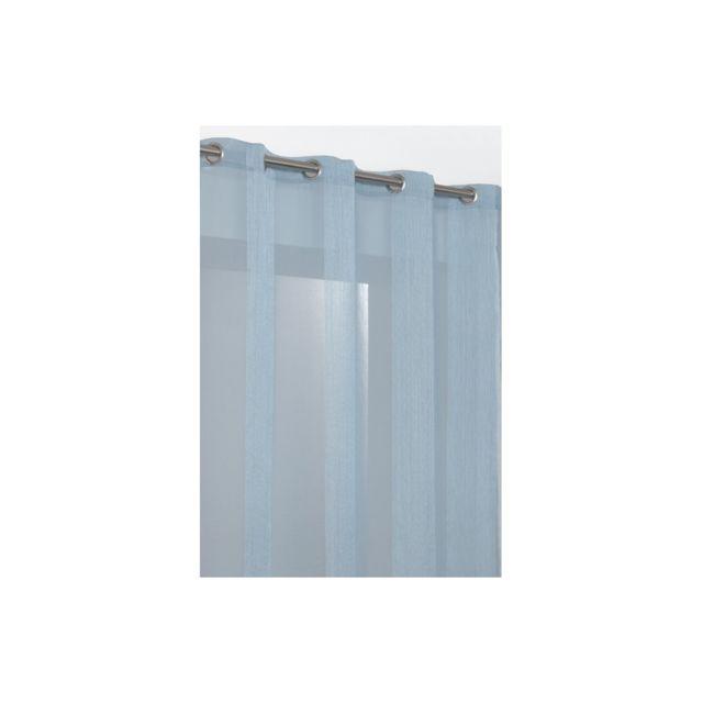 rideaudiscount rideau voilage grande hauteur rayures larges bleu pas cher achat vente. Black Bedroom Furniture Sets. Home Design Ideas