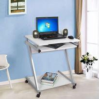 Rocambolesk - Superbe Bureau informatique / table informatique Meuble de bureau pour ordinateur Couleur Blanc Lcd811W neuf