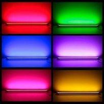 Desineo - Réglette à Led couleurs 1 m Rgb avec télécommande waterproof Ip65