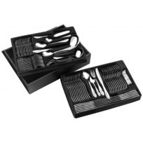 Pradel - Menagere 84 Pcs Miroir Coffret Noir Excellence