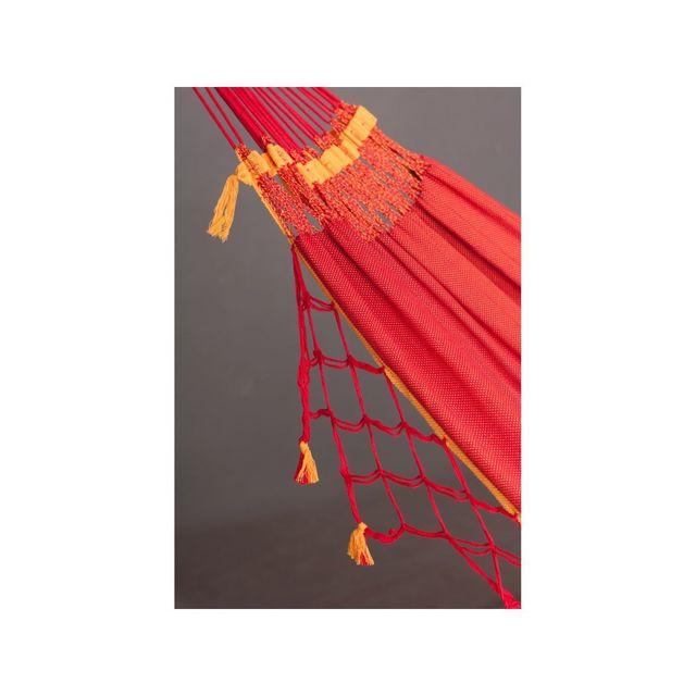 La Siesta - Hamac Double en coton bio Copa furia roja 350x160