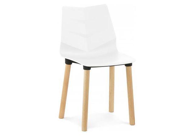 chaise blanche pieds bois - achat chaise blanche pieds bois pas