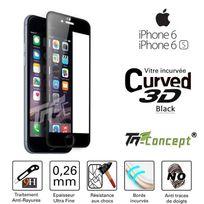 Tm Concept - Apple Iphone 6 Plus / 6S Plus - Vitre de Protection 3D Curved Noir