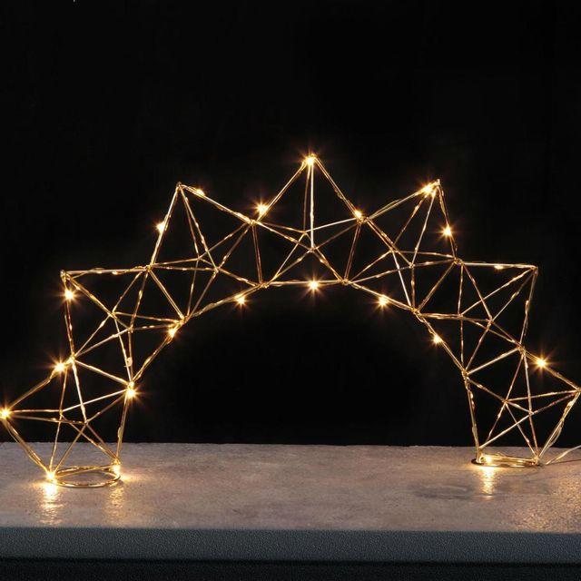 Xmas Living Glass Edge Bow - Lampe à poser Filament Laiton Led H27cm - Guirlande et objet lumineux designé par