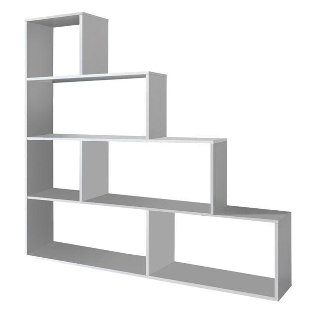 Fores Bibliothèque design moderne blanc brillant 002255BO