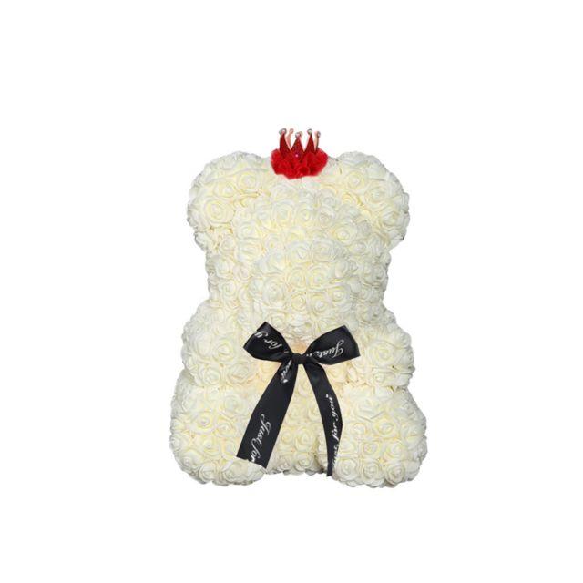 Ours en peluche rose fleur 15 pouces cadeaux pour le mariage anniversaire et la fête des mères