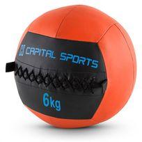 CAPITAL SPORTS - Epitomer Set 5x Wall Ball 6kg cuir synthétique orange