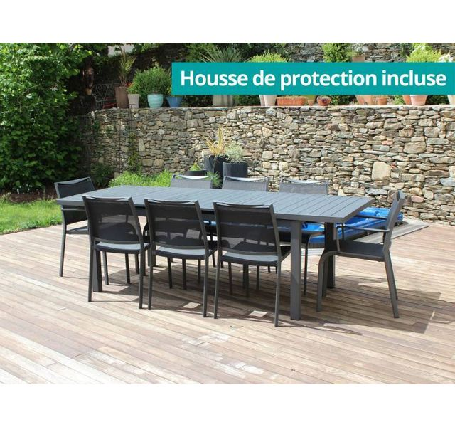 RESIDENCE - Salon de jardin SEVILLA table rectangulaire ...