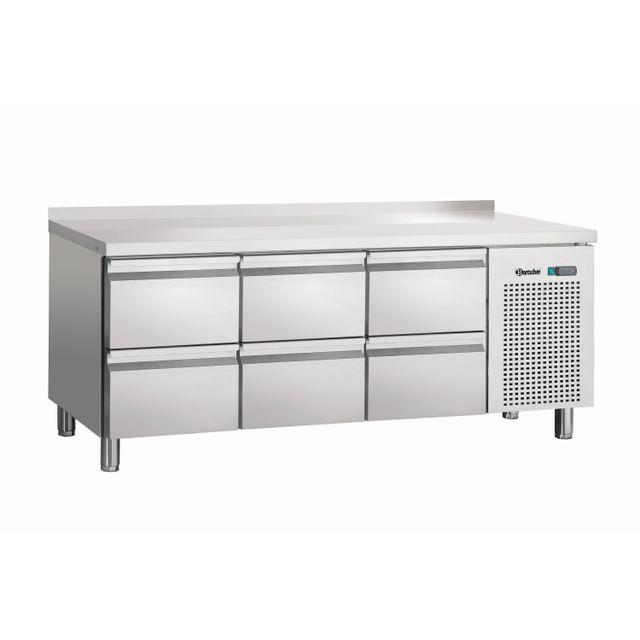 Bartscher Teble refrigeree, froid ventile, 6SL, avec releve