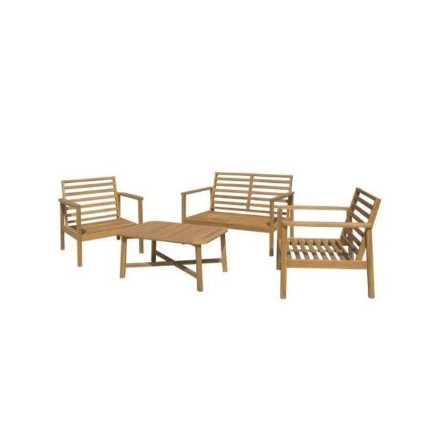 GÉNÉRIQUE - Salon De Jardin - Ensemble Table Chaise Fauteuil De ...