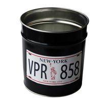 Pierre Henry - Corbeille à papier en métal 12 litres noir Vrp D.24xH.26.5cm Slogan