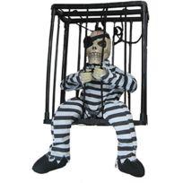 Funny fashion - Décoration Squelette Dans Une Cage - Halloween