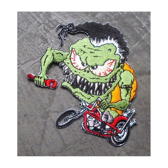 Universel Patch monstre vert a moto chopper ecusson rock roll biker