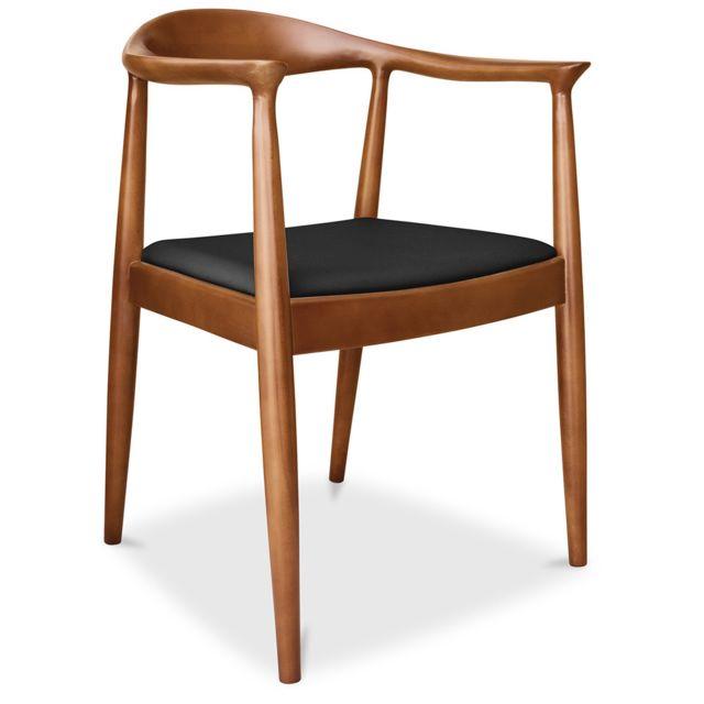 privatefloor chaise design scandinave the chair style hans j wegner simili cuir pas. Black Bedroom Furniture Sets. Home Design Ideas