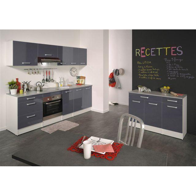 COMFORIUM - Meuble haut de cuisine moderne 80 cm avec 2 ...