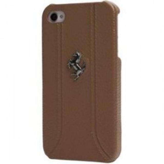 iphone 55s coque cuir ferrari camel