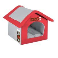 Dogi - Niche d'intérieur pour chien - Taille M - Rouge