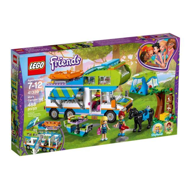 Lego Friends - Le camping-car de Mia - 41339 Pars à la campagne avec Mia et Stéphanie pour une aventure en camping-car.