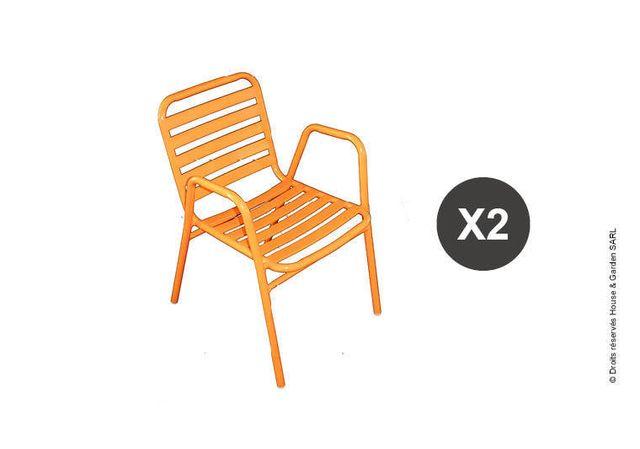 Wilsa - Fauteuil De Jardin Orange - RÉTRO 2 fauteuils de jardin ...