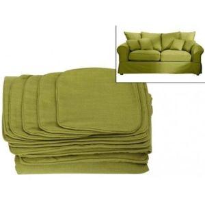 Vente unique housse de canap 2 places en tissu clara vert achat vente - Comment nettoyer un canape en tissu non dehoussable ...