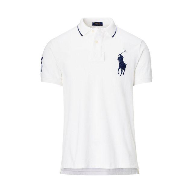 Ralph Lauren Polo gros logo blanc logo marine pas cher Achat