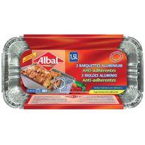 Albal - Barquette alu anti-adhérente 1,5l x3