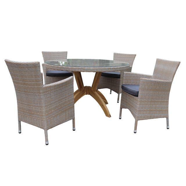 Rotin-design - Table et chaises de jardin Vanda en résine - pas cher ...