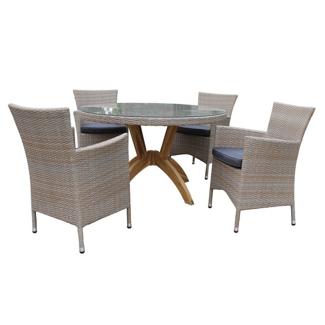 rotin design table et chaises de jardin vanda en rsine - Table Et Chaise De Jardin Pas Cher