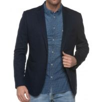 Casual Friday - Veste De Costume Bleue Aspect Denim Homme