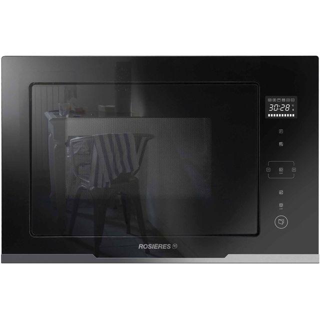 ROSIERES micro-ondes + gril encastrable 28l 900w noir - rmgs28pn
