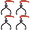 Rocambolesk - Superbe 4 pièces Crochet de levage Pince à bois Neuf