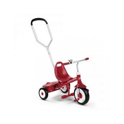 radioflyer radio flyer tricycle a pedales avec canne steer stroll trike pas cher achat. Black Bedroom Furniture Sets. Home Design Ideas
