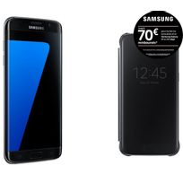 Galaxy S7 Edge Noir + Clear View Cover pour Galaxy S7 Edge - Noir EF-ZG935CBEGWW