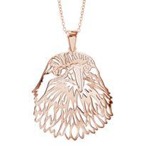 1001BIJOUX - Collier argent dorure rose gros pendentif tête d'aigle 40+10cm