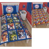 Dc Comics - Parure housse de couette super héros : superman