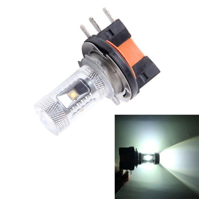 wewoo feu anti brouillard voiture blanc h15 30w 800lm 5000k lumi re 6 led ampoule de de. Black Bedroom Furniture Sets. Home Design Ideas