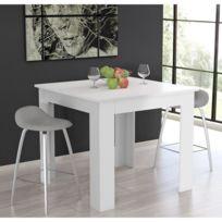 Finlandek - Salle A Manger - Finlandek Table de bar Tietti 110x110x95 cm - Blanc mat