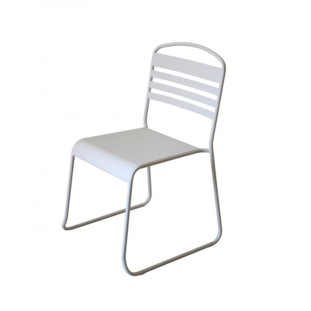 "Paris Prix - Lot de 2 Chaises Design ""Nils"" Blanc"