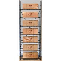 L'ATELIER Du Vin - Solution de rangement pour 7 caisses de vins - Noir Aci-adv910