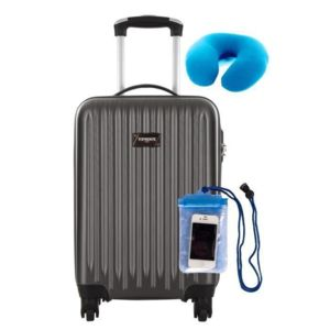 Interesting torrente valise cabine low cost rigide roues aclepios gris coussin de voyage with - Valise cabine lulu castagnette ...
