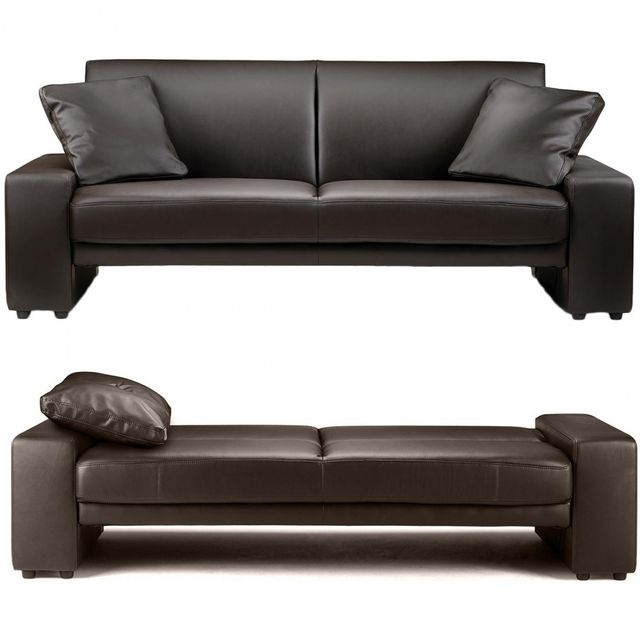 Canapé Meubler Vente Convertible Marron Achat York New Design cAqL54j3R