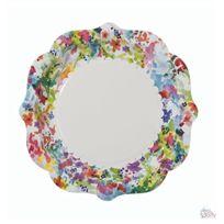 Talking Tables - Floral Fiesta Lot De 12 Assiettes En Carton Fleuries