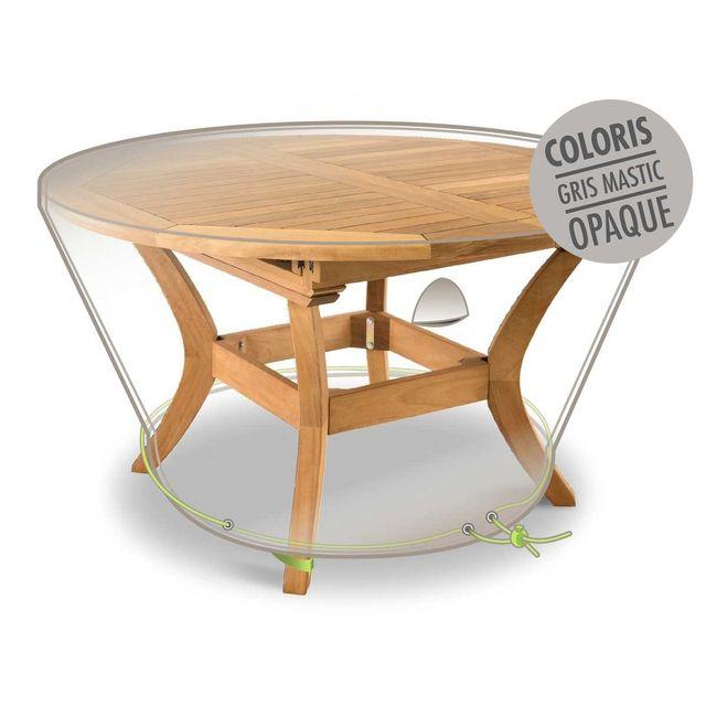 JARDIDECO Housse de protection Luxe pour table ronde Ø 120 x 50 cm