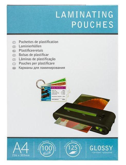 Pavo Bo/îte de 50 Pochettes de plastification /à chaud brillante 2 x 125 microns A2 Transparent
