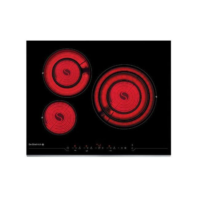 de dietrich table de cuisson vitroceramique dtv1124x achat plaque de cuisson vitroc ramique. Black Bedroom Furniture Sets. Home Design Ideas