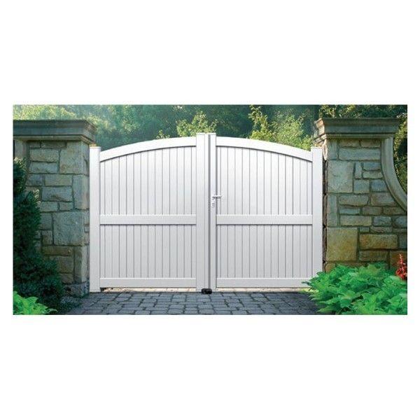Sonnier bois panneaux menuiserie portail aluminium escalet longueur 3m pas cher achat for Portail alu soldes