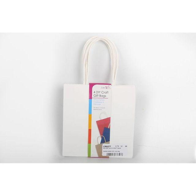 g n rique 8 pochettes cadeau kraft blanc 14 5 cm pas cher achat vente papier cadeaux. Black Bedroom Furniture Sets. Home Design Ideas