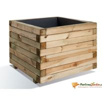 JARDIPOLYS - Jardinière carrée en bois maxi volume Stockholm 80