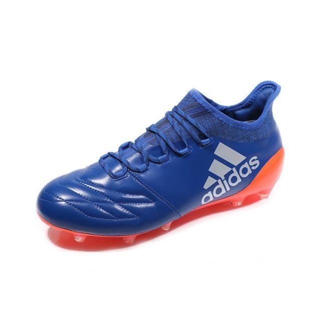 Chaussures X 16.1 FG Leather Bleu Football Homme Multicouleur 42