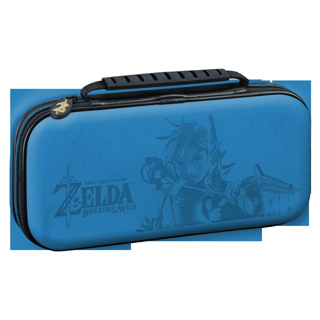 NINTENDO - Pochette de transport officielle Zelda pour Switch Bleu